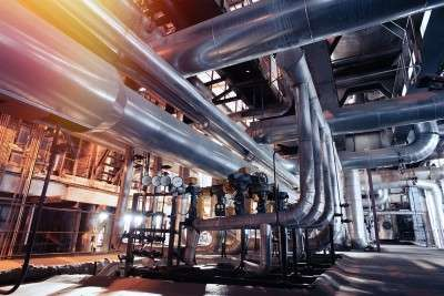 piping in industry plant from mechanical engineering