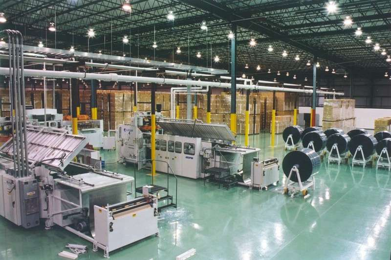 manufacturing plant showing large floor design