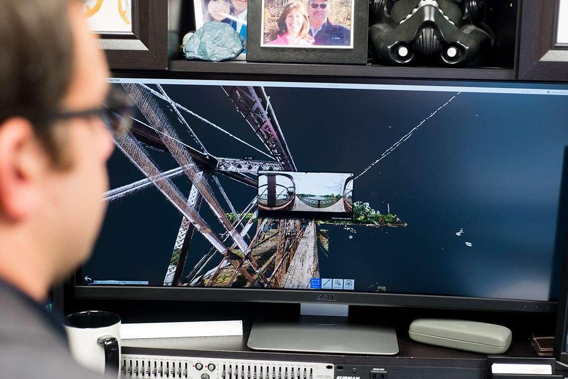 3D and Point Cloud scan of Harmar Bridge